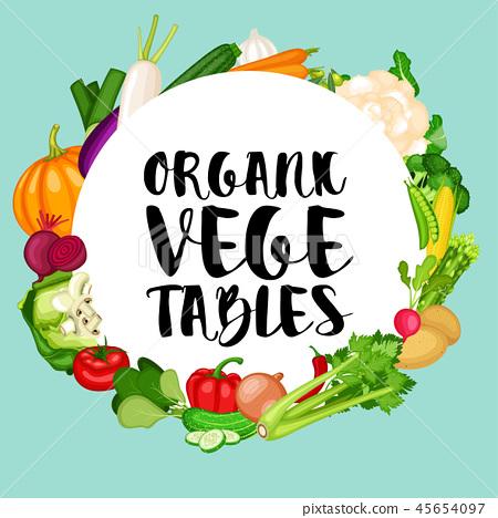Organic vegetables background 45654097
