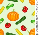 Organic vegetable collection set 45654107