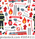 Firefighting pattern seamless vector background 45654111