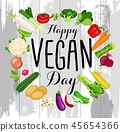 World vegan day design 45654366