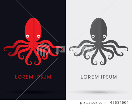 Octopus sign graphic vector. 45654604