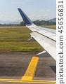 從飛機舷窗拍攝的機翼 45656831