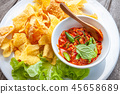 Thai food,  Fried Wonton or Giew Moo Tod 45658689
