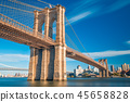 a magnificent view of the Brooklyn Bridge 45658828