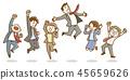 商人女實業家跳手拉的樣式 45659626