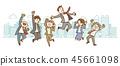 商人女實業家跳手拉的樣式 45661098