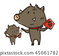 귀여운 멧돼지 cute pigs 45661782