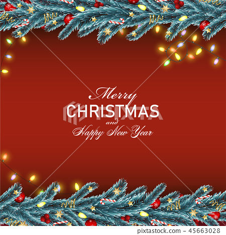 Christmas and Happy New Year background 45663028