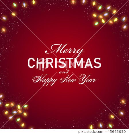 Christmas and Happy New Year background 45663030