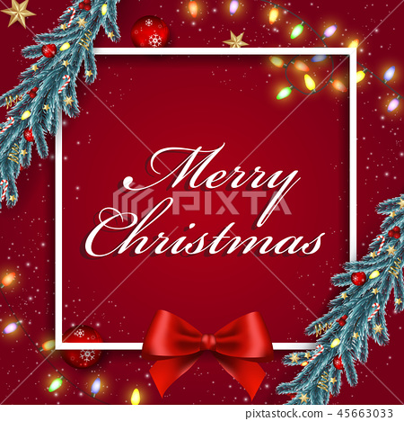 Christmas and Happy New Year background 45663033