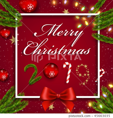 Christmas and Happy New Year background 45663035