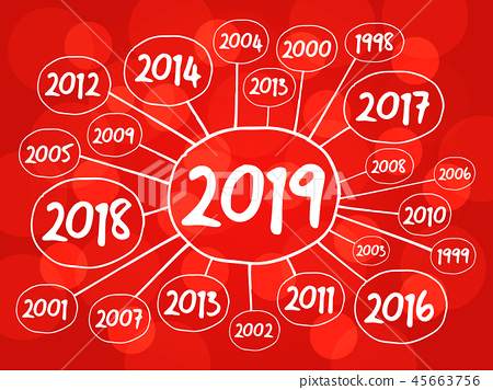 2019 Happy New Year and previous years 45663756