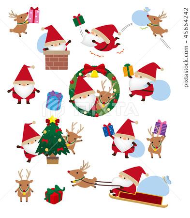Santa Claus and reindeer 45664242