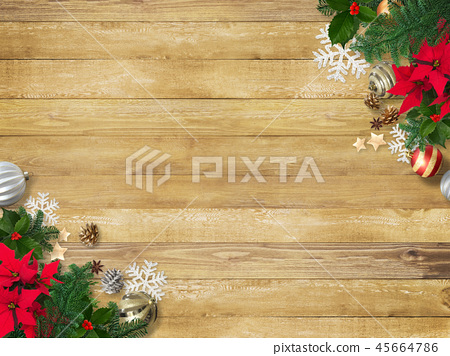 背景木五穀聖誕節裝飾品 45664786