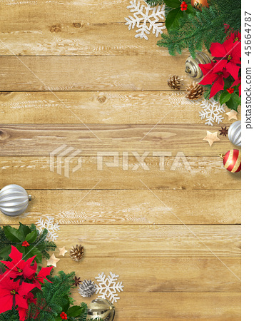 背景木五穀聖誕節裝飾品 45664787