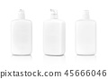 white cosmetic pumping bottle on white background 45666046