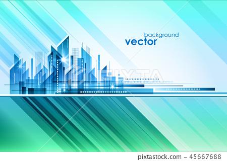 Night City, vector illustration 45667688