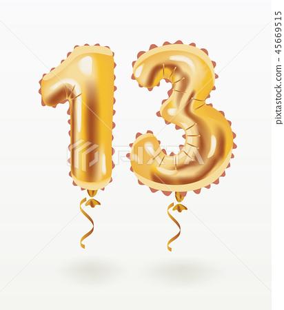 Air balloon thirteen years anniversary celebration 45669515