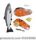 ปลาแซลมอน,แซลมอน,ปลา 45669686