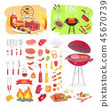 bbq grill party 45670739