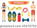 fitness sport vector 45670792