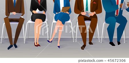 Human resources interview recruitment. Job concept 45672306