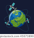global, orbit, orbiting 45673890