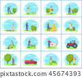 farmer farm vector 45674393
