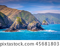 Cook Strait, New Zealand between the North and the South Island 45681803