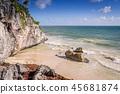 Beach in Tulum, Mexico 45681874