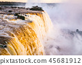 Beautiful Sunset Colors at Cataratas do Iguacu at Iguazu Falls, Foz do Iguacu, Parana State, Brazil 45681912