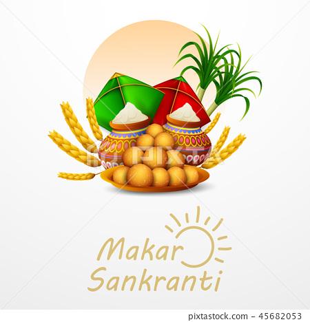 Happy Makar Sankranti greeting card 45682053