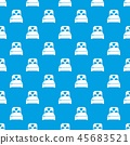 Wedding couple bed pattern vector seamless blue 45683521