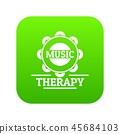 Tambourine icon green vector 45684103