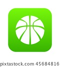 Basketball icon green vector 45684816