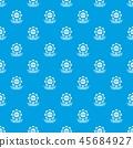 Tambourine pattern vector seamless blue 45684927