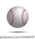Abstract baseball vector image with 3d baseball ball. 45688787