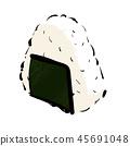 用nori海草包裹的饭团的例证:饭团,饭团,饭团,饭团 饭团 45691048