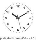 circle clock hour 45695373