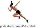 faster start running woman sprinter 45696046