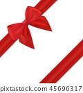 ribbon gift red 45696317