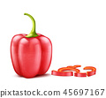 illustration of realistic red bell pepper 45697167