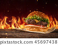 food hamburger flame 45697438