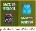 Back to School Backpack Poster Vector Illustration 45697851