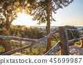 Sunset Bokeh Over Greek Summer Island 45699987