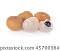 Fresh longan isolated on white background 45700364