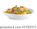 Thai cuisine,Curry with crab isolated on white. 45700371