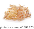 Dried fish isolated on white background 45700373