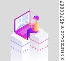 virtual isometric message 45700887