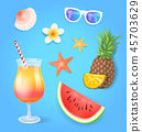 summer, set, tropical 45703629